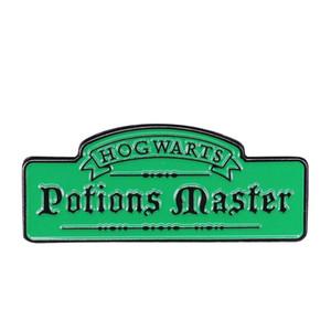 Mestre em poções esmalte pin magia escola Hogwarts broche bruxaria jóias assistente bookish badge Potter fãs coleção presente