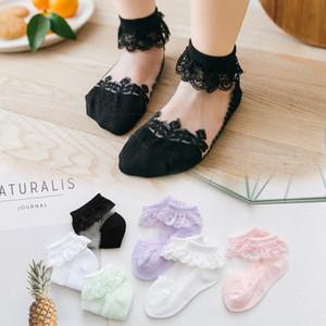 Socquettes Bébés filles Meilleur enfants court Sock bébé mignon dentelle Chaussettes bébé Multicolor Respirant Mode bowknot Princesse