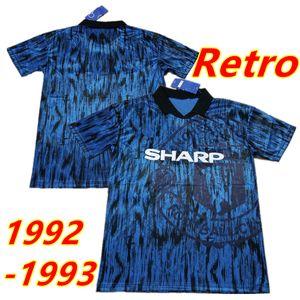 1992 1993 Man Retro Version MAN vintage classic Soccer Jerseys 92 93 UTD Football Shirts United Hughes Cantona Giggs Brian McClair Paul Ince