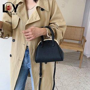 dei nuovi di alta qualità cuoio delle donne dell'unità di modo della borsa delle donne Hasp Crossbody Shell Borse semplice clip Solidshoulder versione coreana Bag
