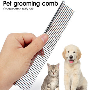 Pet Bakım Fırçası Tarak Araçları Hayvan Köpek Tarak Pim Kedi Fırça Paslanmaz Çelik Köpekler Tarak Metal Pet Ürün YYA39