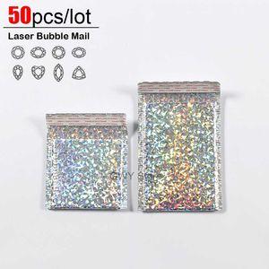 Borse Mailing 50pcs / lot del laser Bubble Mailer Poly Buste con bolla Trasporto Packaging busta bollettini riempiti del sacchetto di trasporto