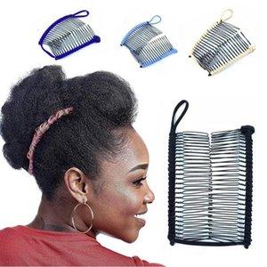 Herramientas de moda clip de época profesional del pelo del plátano de Navidad accesorio del pelo estirable plátano peine del pelo para rizar pernos DHC329