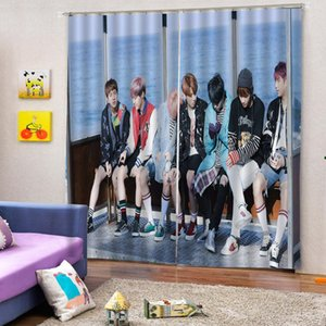Living Room Curtains Black and White Curtain for Bedroom Window Treatment Drapes A B Style Home Decoration