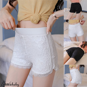 Sexy Spitze unter Sicherheits kurze Hosen-Frauen-nahtlose Unterwäsche Short Femme Damen Shorts plus Größe XXXL
