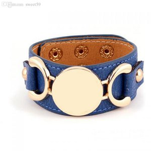 New Style Leather Cuff Bracelet Pulseras 3 Row Gold Silver Plated Multicolor Leather Charm Bracelet For Women Men