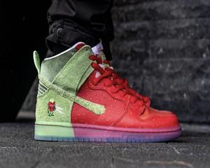 El mejor SB Dunk High Strawberry Tos Kids Skateboard Shoes para la venta Hombres Mujeres Sport Zapatos Envío gratis con Tamaño 36-45