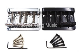 Niko Chrome / Black Top Load Седло для 4-струнных электрической бас-гитара Bridge Free Shipping оптовых продаж