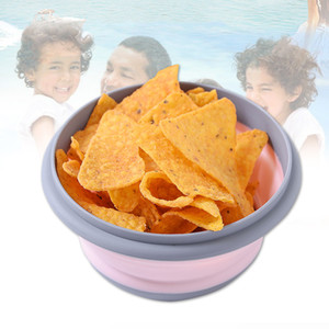 3pcs Folding Bowl Outdoor Camping Tableware Sets Lunch Box Portable Salad Bowl With Lid For Nature Hike Cooking Supplies