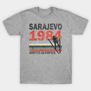 Männer T-Shirt SARAJEVO 1984 WINTERSPIELE T-Shirt Frauen-T-Shirt