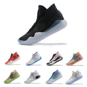 New Zoom د.ك. 12 ذكرى سهرة PE BHM Red Oreo حذاء كرة السلة للرجال ، Elite Low Kevin Durant ، رياضية رياضية