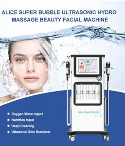Alie New Super bolha Hydrafacial máquina Facial Pele Spas Cuidados de rejuvenescimento Água Peeling Rosto Pele Pore Lavagem Hidro dermoabrasão