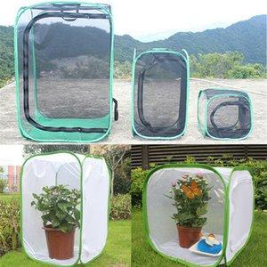 Inseto gaiola dobrável borboleta Habitat malha superfície transparente portátil Zipper Mudas Luz Incubadora Breeding Supplies Habitat Net Pet