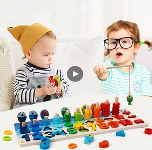 Montessori Educational Holzspielzeug für Kinder Brett Math Fishing Count Numbers Matching Digitale Form Spiel Early Education Toy