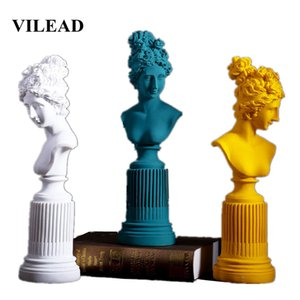 VILEAD 36cm Reçine Freya Tanrıça heykelcikleri Salon Ana Sanat Heykel Çalışma Odası Pencere Yaratıcı Portre Dekorasyon Hediyeler T200619