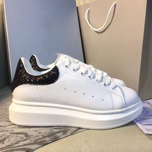 De lujo del diseñador barato Hombres Mujeres zapatilla de deporte de los zapatos ocasionales Chaussures-top deportivos de cuero para damas cestas zapato para caminar Deportes de gran tamaño