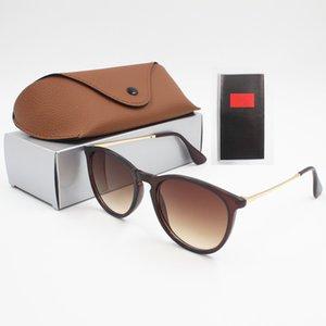 vente en gros 1pcs Lunettes de soleil Mode Lunettes Lunettes de soleil Designer Hommes Femmes Brown Cas Noir Frame Dark Metal 50 mm Objectifs pour