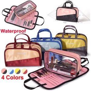 Nuovo trucco coreano Sacchetto Organizzatore di immagazzinaggio Sacchetti cosmetici Sacchetto di lavaggio della biancheria da bagno di grande capacità Borsa da viaggio impermeabile Sacchetto di trucco impermeabile