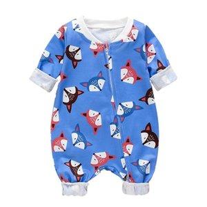 لطيف طفل رضيع السروال القصير الشخصية الطباعة طويلة الأكمام ملابس الرضع كارتون رائع زيبر موضة سترة القفز
