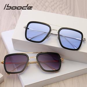 iboode Yeni Çocuk Güneş Erkekler Kızlar 9-16 yaşında çocuklar Retro Kare Bebek Moda UV400 Gözlük için 2019 Moda Güneş Gözlükleri