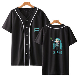 Anime Hatsune Miku baseball tshirt t-shirt women men cotton short sleeve t shirt plus size streetwear Tee t shirts brand clothes T200605