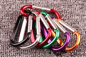 1 Pcs Booms pêche en alliage d'aluminium Carabiner Keychain extérieur boucle de serrure Camping Escalade Aligner clip Crochet pêche outil aléatoire