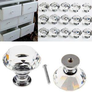 40MM Mutfak Cam Elmas Kristal Kapı Topuzlar Dresser Dolabı Dolap Dolap Çekmece Donanım Topuz Kol Çekme Banyo