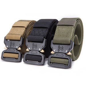 Nylon Belt Men Army Tactical Belt Molle Military SWAT Combat Belts Knock Off Emergency Survival Waist Tactical Gear Outdoor Sports