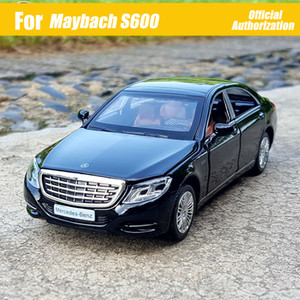 1:32 Ölçekli Diecast Metal Alaşım Lüks Sedan Araba Modeli Için TheBenz Maybach S600 S Sınıfı Koleksiyon Araç 6 Kapılar Açık Oyuncaklar Araba