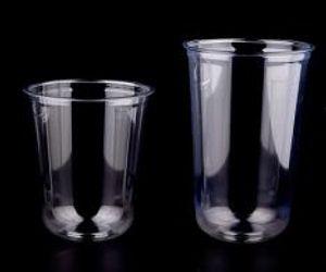 كوب عصير، كوب عرف طبع اضح المتاح البلاستيكية PET U الحليب عصير شكل كوب فقاعة كوب الشاي مع العديد من نوع من غطاء للاختيار.