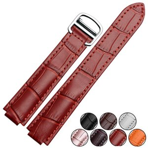 Genuine Leather 14 x 8 18 x11 20 x 12 mm Watche Band Strap Belt Watchband And Folding Clasp Buckle For Cra Ballon Bleu Series