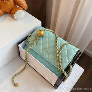 Borsa 2020 del progettista delle nuove donne sacchetti sacchetto spalla di modo catena decorazione palla d'oro busta borsa messenger