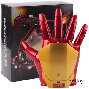 Marvel Avengers Cosplay Toy Iron Man Glove with LED Light Repulsor Ray Sound Launchable Movable Action Figure