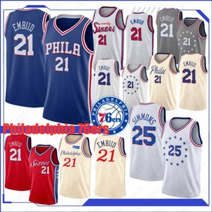 Allen Iverson 3 Joel 21 Embiid Homens Basketball Jerseys Ben 25 Simmons Jimmy 23 Butler Retro City Top Quality Jerseys Top 2019 20 Jersey