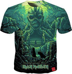 2019 Новая мода лето Футболка Iron Maiden Мужчины Женщины с коротким рукавом Eddie Tee Восхищаться Вентиляторы 3D Printed T рубашки 18 Стили
