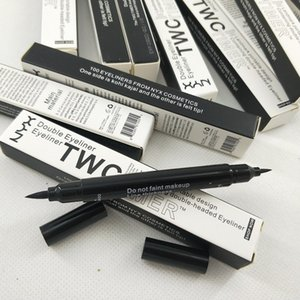 NYX twc Timer Doppel Eyeliner untra-portable wasserdichte doppelte Eyeliner Grenzstein beweglicher Entwurf doubke-headed Eyeliner enthält