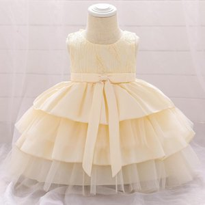 Little Baby Girls Clothes Flower Girls Dress Baby Costume Elegant Fluffy Princess Party Dresses First Communion Baptism Vestido