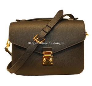 Genuine borsa a tracolla in pelle donna cross body bag fiore di modo con numero di serie codice della data