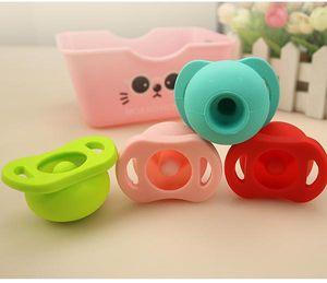 Silikon-Nippel-Feeder Flexible Pacifier Reiniger Lustige Beruhigungssauger Schnuller Food Grade Soft-Silikon für neugeborenes Baby Infant EEA1320-1