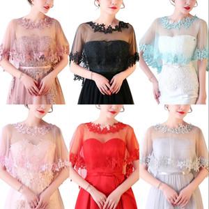 패션 여성 레이스 새해 신부 웨딩 볼레로 어깨를 으쓱 어깨 걸이 랩 케이프는 주식 cpa1655에서 결혼식 용 액세서리 스톨