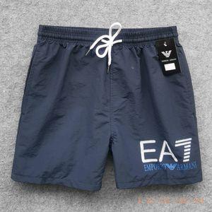 Moda tecido impermeável atacado calças dos homens de verão praia calções roupas swimwear nylon nadar calções esportesArmani