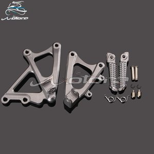 Front Footpegs Foot Pegs Footrest Pedals Bracket For YZF1000 R1 YZF-R1 YZFR1 2009 2010 2011 2012 2013 2014 09 10 11 12 13 14