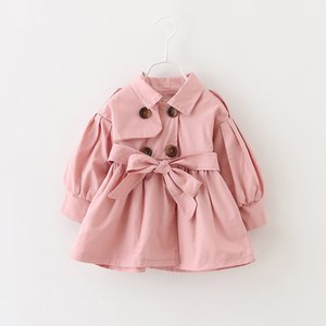 Bebê Casacos bebé recém-nascido Roupa 2019 Bow outono revestimento roupa infantil para crianças Casacos Bebés Meninas Moda Agasalho