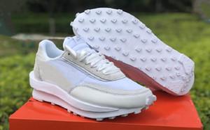 Beste Qualität Mens Sacai LDV Waffel Weiß Grau Athletisch Designer Schuhe Comfort Weiß Nylon Mode Schuhe Turnschuhe Turnschuhe