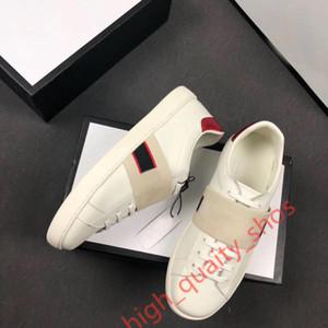 Gucci 2020 neue Ace Ledersneaker Frauen der Männer Klassische Trainer Python Tiger Biene Blume gestickte Hahn Liebe Turnschuhe c10 hococal