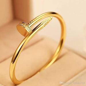 Monili di lusso del progettista nuovo tipo in oro rosa braccialetti di diamanti donne degli uomini Catene Iced Out gioielli uomini bracciali braccialetto delle donne