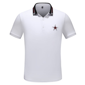 2020 Luxury Europe Parigi patchwork uomini maglietta Moda Uomo Designers maglietta casual uomini copre medusa Cotton Tee lusso di polo