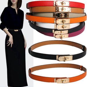 H 2019 new home kelly leather thin belt buckle Ms. Kelly sweater coat dress decorated with belt