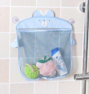 DHL MultiPurposes Korean Fashion Sucker Design Cartoon Home Bathroom Mesh Bags Baby Kid Toy Storage Net Bag nx
