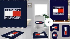 Lujo Nueva directos de fábrica de poliéster de impresión alfombra de baño por pedido aseo ducha digital de cortina de baño de blindaje cortina de ganchos